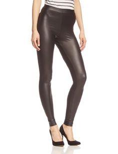 PIECES Damen Legging New Shiny, Gr. 38 (Herstellergröße: M/L), Schwarz