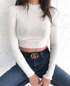 Pin by fashionova on teen fashion in 2019 Gucci Outfits, Mode Outfits, Fall Outfits, Summer Outfits, Fashion Outfits, Fashion Ideas, Look Fashion, Teen Fashion, Womens Fashion