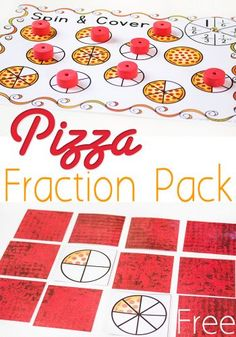 These free pizza fraction printables are a great way to have fun and learn about equivalent fractions. Kids will compare halves, fourths, and sixths with three free printable fraction activities.