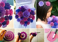 Wonderful DIY Gorgeous Paper Flower Bouquet For Wedding