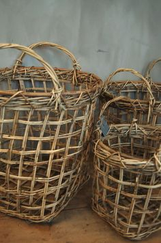 Baskets for extra pillows, stuffed animals, slippers, robes, sweaters, etc.