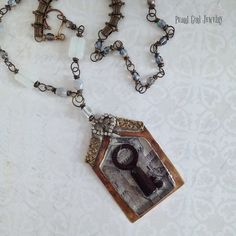 SALE Recycled Vintage Key Mixed Media by PearlGirlJewelry1 on Etsy