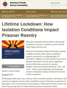 Lifetime Lockdown: How Isolation Conditions Impact Prisoner Reentry
