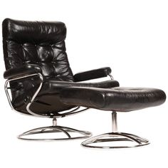 Reclining Stressless Lounge Chair and Ottoman by Ekornes | Find your Stressless at Copenhagen Imports in Sarasota, FL. or Visit www.copenhagen-imports.com