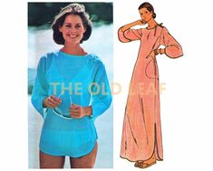 Sewing Pattern for 70s Top & Dress, Beach Coverup, Easy Butterick 4822 #70sFashion #BeachCoverup #1970sDresses #BeachDress #MaxiDress #Dressmaking #EasySewingProjects #TheOldLeaf