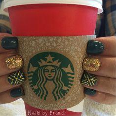 Plaid. Fall. Starbucks. Nails. Perfection. Love my Nails by Brandi!