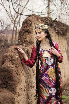 Tajik woman in national clothes