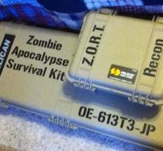 Load a first aid package and include medications that anyone has to handle a regular basis. To offer warmth and a possible method to cook, you'll require items to start a fire with. You can use a waterproof lighter or water resistant matches and tinder. Apocalypse Survival Kit, Pelican Case, Gun Cases, Led Flashlight, Tool Box, Tinder, Zombies, Lighter, Prepping