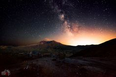 Milky Way behind Mt. St. Helens by James Whelan on 500px