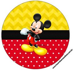 Rótulo Tubetes,Latinhas e Toppers Mickey: