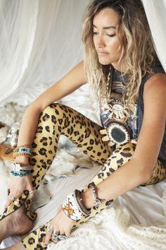 Kate and the Gypsies leggings, zip, fashion, spell shoot, bedroom, fashion shoot, tribal