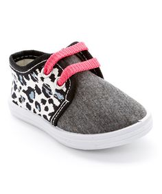 Another great find on #zulily! Pink & Gray Leopard Sneaker by Milly & Max #zulilyfinds
