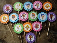 Bubble Guppies cupcake toppers Bubble Guppies by SassyCreationz, $3.95