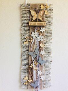 Twig Crafts, Jute Crafts, Driftwood Crafts, Heart Crafts, Wooden Crafts, Crafts To Do, Stick Art, Flower Studio, Idee Diy