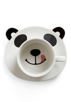 Panda plate and matching mug, available at modclth.com for 29.99$ US.