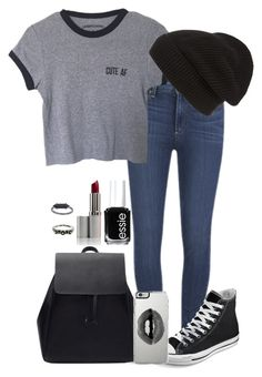 """""""I pray that you will find peace of mind, and I'll find you another time, I'll love you, another time."""" by teenagedreamsmile ❤ liked on Polyvore featuring Paige Denim, Converse, Phase 3, Lipsy, Topshop and Essie"""