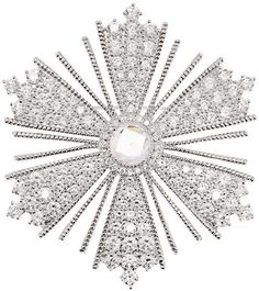 NEIMAN AND MARCUS BROOCHES KENNETH J LANE | Kenneth Jay Lane Rhodium-plated cubic zirconia brooch $279.00 ...