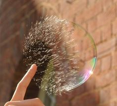 Insane photo of bubble popping