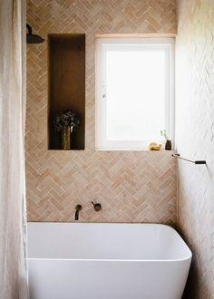 GABBE INTERIOR TILESOFEZRA Georgia Ezra Home Feature shower Mosaic Moroccan Bejmat Natural shower tile.jpg