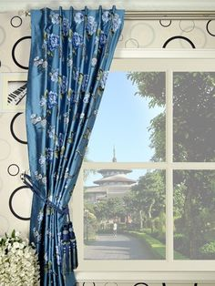 Dupioni Silk Drapes Blue, dupioni silk fabric, drapery fabric ~ Home Design Dupioni Silk Fabric, Silk Drapes, Drapery Fabric, Curtains, Window Treatments, Luxury Homes, Yard, House Design, Windows