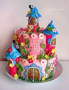 Princess castle cake.