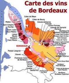wijnkaart bordeaux streek - Google zoeken