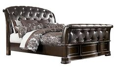 Barclay Place Queen Sleigh Bed - pretty sure this will be our bedroom furniture.  Love the tufted headboard and the curved lines.
