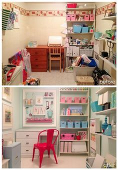Craft Room Makeover: before and after