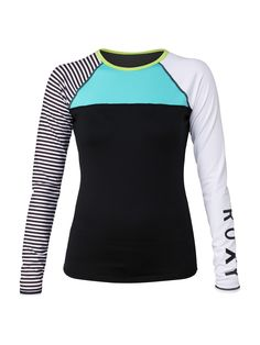 Neon Tide Long Sleeve Rash Guard - Roxy Cute Swimsuits 2b840ad71e1e3