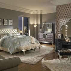 My bedroom furniture! Love!!  Hollywood SwankBedroom | Michael Amini Furniture Designs | amini.com