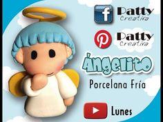 Agel cold porcelain/Angelito en Porcelana Fría / Patty Creativa