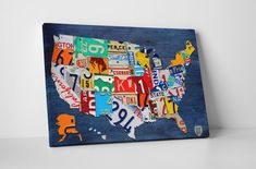 Hey, I found this really awesome Etsy listing at https://www.etsy.com/listing/222925401/license-plate-art-usa-map-gallery