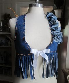 Wobisobi: Project Re-Style #26 Denim Vest
