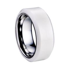 18g brand new tungsten and ceramic ring polished #Evxy