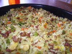 Arroz chino con carne de soya