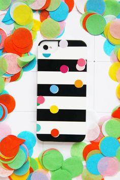 Studio DIY  Pencil Shavings iPhone Case - Confetti on Sripes