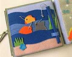 Calme livre PAGE, livre d'éveil, jouet d'éveil pêche pour les enfants