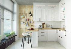 Scandinavian Kitchens: Ideas & Inspiration. Wall in dots