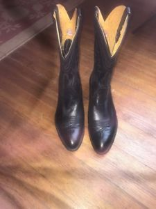 ab2abf5a7 Details about VTG 50s 60s FRYE MADE USA BLACK LEATHER MENS ARIZONA WESTERN  COWBOY BOOTS Sz 9 D