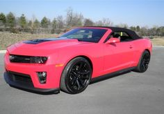 Pink Chevrolet Camaro ZL1! Is pink the color for you? See more here... #spon