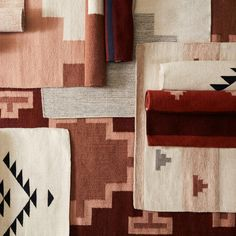 We partner with artisans to create modern goods for the well-traveled home. Geometric Rug, Basket Decoration, Modern Colors, Sheep Wool, Accent Rugs, Textile Patterns, Wool Rug, Color Schemes, Hand Weaving