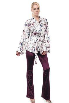 Kimono, Floral Prints, Trousers, Velvet, Trouser Pants, Floral Patterns, Pants, Kimonos, Flower Prints