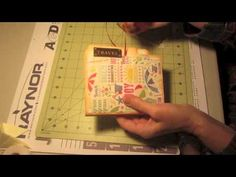 Manila File Folder Mini Album Scrapbooking Ideas Craft Tutorial - YouTube