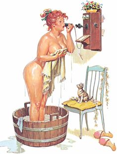 """There was a time when women had lovely """"curves"""" ...Hilda, the pin up, originally drawn in the 1950s by illustrator Duane Bryers"""