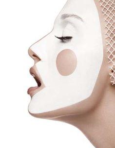 ...kağıt maske dıy makeup???