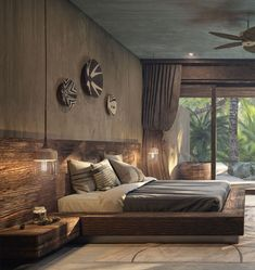 Hotel Nômade Tulum, Mexico - Discover our Villas Bedroom Bed Design, Bedroom Furniture Design, Modern Bedroom Design, Home Room Design, Home Bedroom, Home Interior Design, Interior Architecture, Bedroom Decor, Bali Bedroom