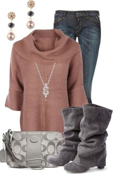 """Dusty Rose"" by pippimommy on Polyvore"