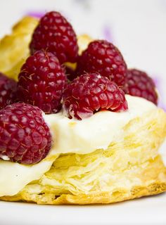 The recipe for perfect Vanilla Pastry Cream.  Add puff pastry and berries and you'll have a sweet Valentine's Day dessert.