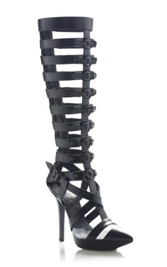f2205a636ea5a Black Statement Gladiator Pump by Versace for Preorder on Moda Operandi  Dream Shoes