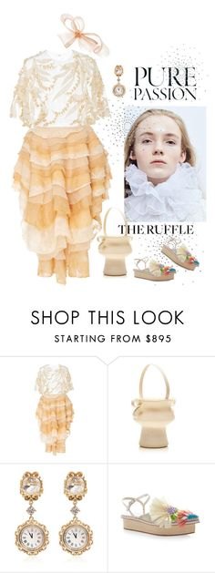 """Pure Passion"" by naturalbornstyler ❤ liked on Polyvore featuring Paula Raia, Barneys New York, Rosie Assoulin, Dolce&Gabbana, Delpozo, Phase Eight and ruffles"